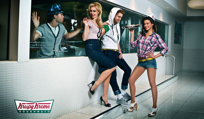 advertising photographer  james nader fashion photography - krispy kreme