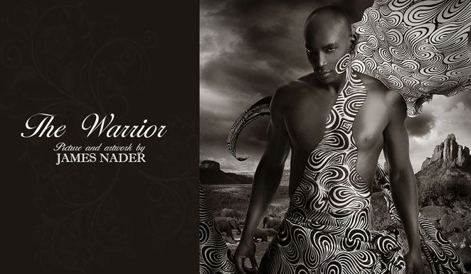 A star with the words James Nader Fashion Photographer underneath