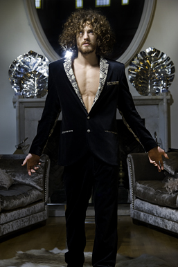 Rococo menswear editorial with Max Rogers from Storm Models London